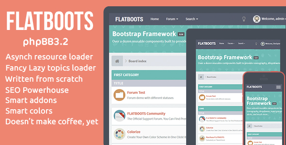 FLATBOOTS | High-Performance and Modern Theme For phpBB