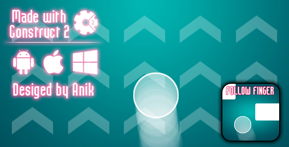 Follow Finger - HTML5 Game (CAPX) Download