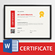 The Certificate - GraphicRiver Item for Sale