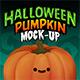 Halloween Pumpkin Face Mock-Up - GraphicRiver Item for Sale