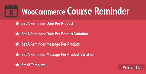 WooCommerce Course Reminder