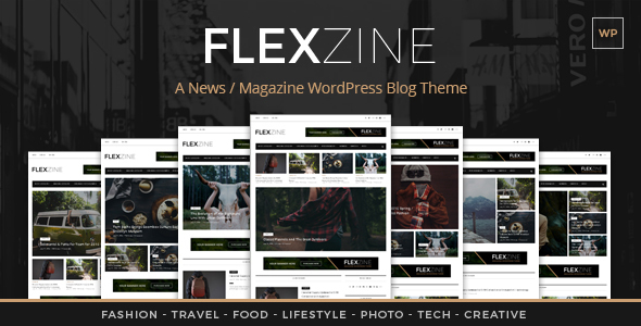 Flexzine - Fashion Magazine WordPress Blog Theme