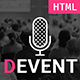 D Event - Conference Site Template with Onepage & Multipage Feature - ThemeForest Item for Sale