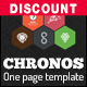 Chronos - One Page HTML Responsive Template With Hexagons and Parallax Effects - ThemeForest Item for Sale