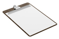 wooden clipboard with blank paper isolated on white background. 3d illustration - PhotoDune Item for Sale