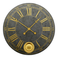 vintage round wall clock isolated on white background. 3d illustration - PhotoDune Item for Sale