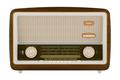 vintage radio isolated on white background. 3d illustration - PhotoDune Item for Sale