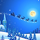 Christmas Winter Landscape with Santa Sleigh - GraphicRiver Item for Sale