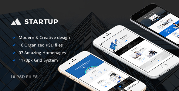 StartUp - Multipurpose Small Business PSD Template