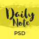 Daily Note - Creative Blog PSD Template - ThemeForest Item for Sale