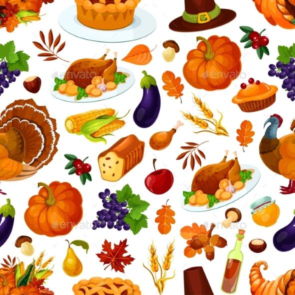 Thanksgiving Seamless Pattern Decoration