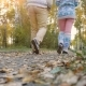 Young Couple Walking In The Autumn Park In - VideoHive Item for Sale
