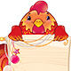 Red Fire Rooster with Scroll and Christmas Ornament. - GraphicRiver Item for Sale