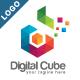 Digital Cube - Colorful Letter D Logo V2 - GraphicRiver Item for Sale