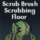 Scrub Brush Scrubbing Floor