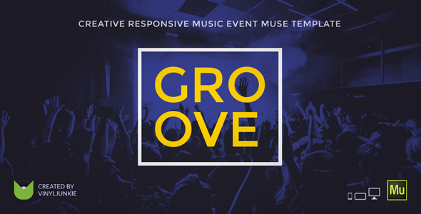 Groove - Music Event / Party / Festival Responsive Muse Template