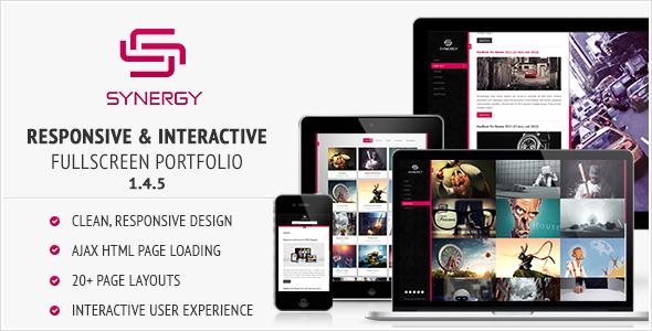 Synergia - responsywne i interaktywne portfolio HTML
