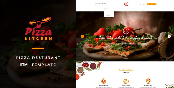 Pizza Kitchen - Fast Food HTML Template