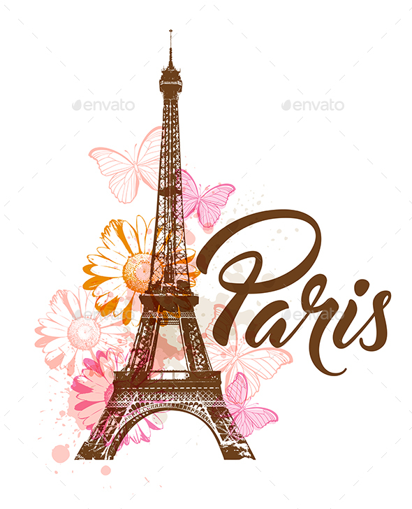 Paris Card Graphics, Designs & Templates from GraphicRiver