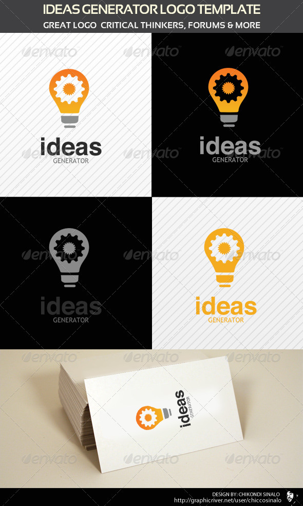 Ideas Generator Logo Template