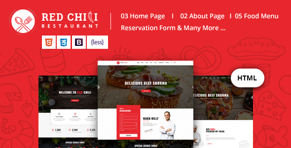 Red Chili - Restaurant HTML5 Template