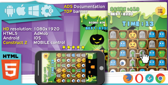 Construct 2 and Mobile Game HTML5 Templates from CodeCanyon