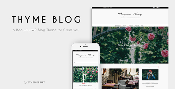 Thyme - A Blog & Shop Theme for WordPress