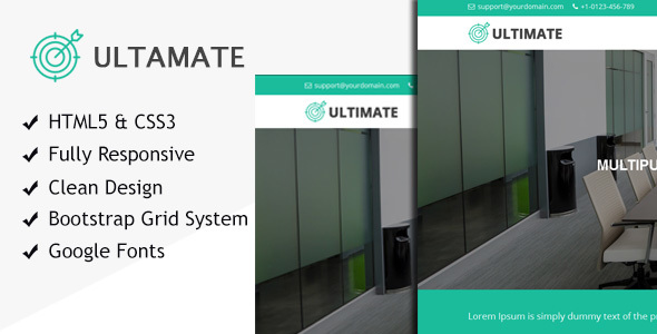 Ultimate multiple purpose HTML responsive site template