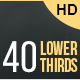 40 Lower Thirds - VideoHive Item for Sale