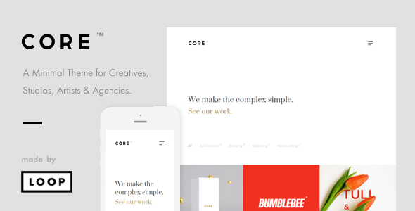 Core – A Minimal Portfolio WordPress Theme for Creatives, Studios, Artists & Agencies