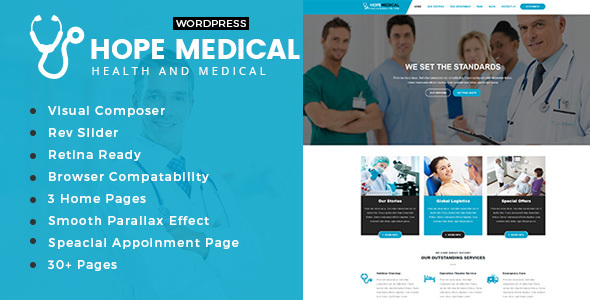 Hope Medical - Health Care WordPress Theme