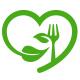 Love Organic Food Logo - GraphicRiver Item for Sale