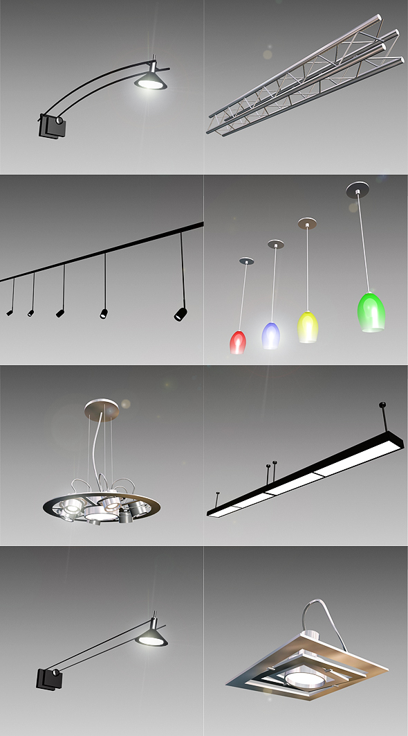 3D Lamp Models from 3DOcean