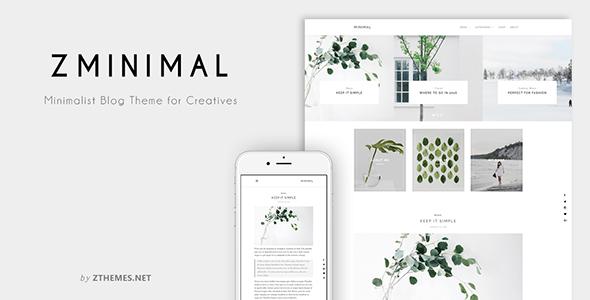 ZMinimal - Minimalist Blog Theme for Creatives