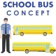 School Bus Concept. - GraphicRiver Item for Sale