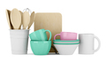 kitchen utensils isolated on white background. 3d illustration - PhotoDune Item for Sale