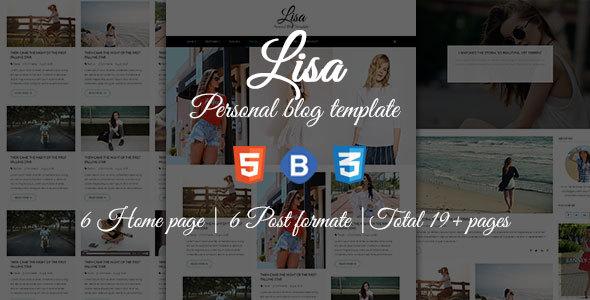 Lisa - Personal Blog Template
