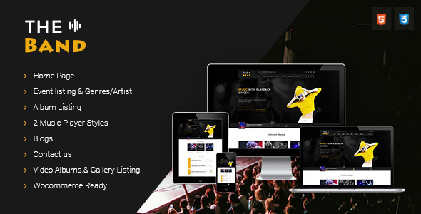 TheBand Music Band Html Template