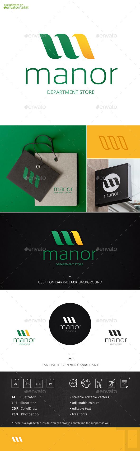 Manor Letter M Logo Template