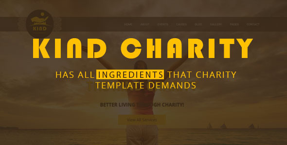Kind NGO & Charity HTML Template