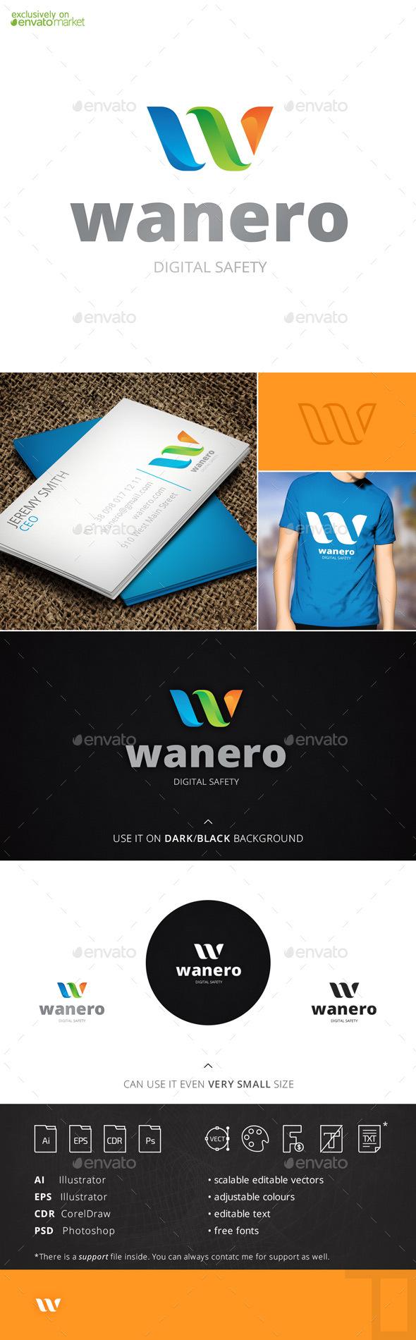 Wanero Letter W Logo Template
