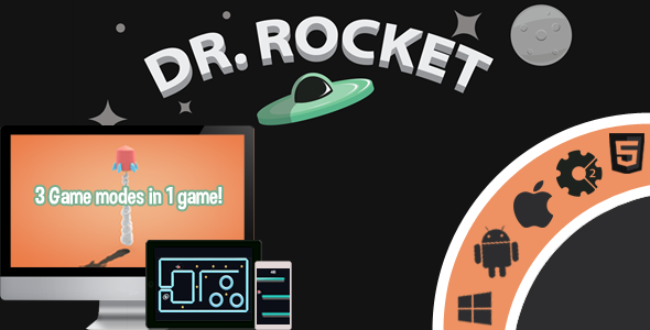 Dr.Rocket - 3 Game Modes In 1 game! - HTML5 - Capx Download