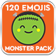 120 Animated Emojis - Monster Pack - VideoHive Item for Sale