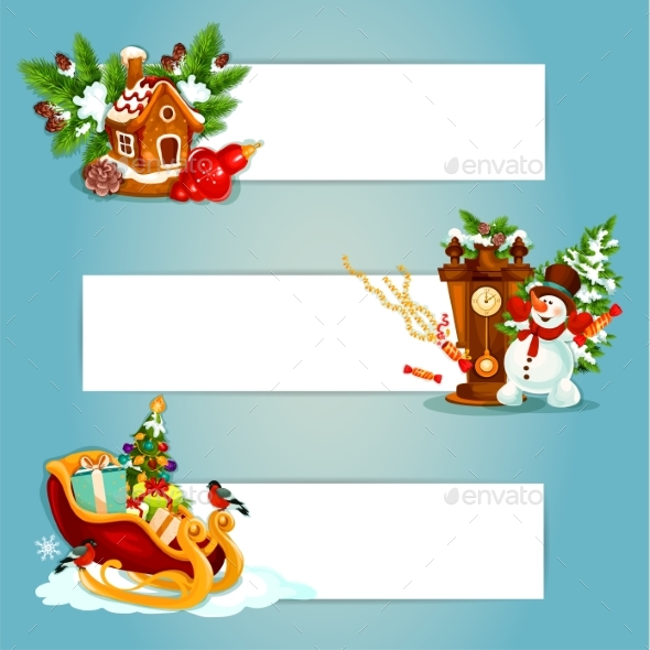 Christmas and New Year Banner