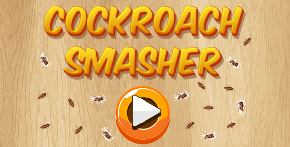Cockroach Smasher - HTML5 Casual Game (CAPX + APK) Download