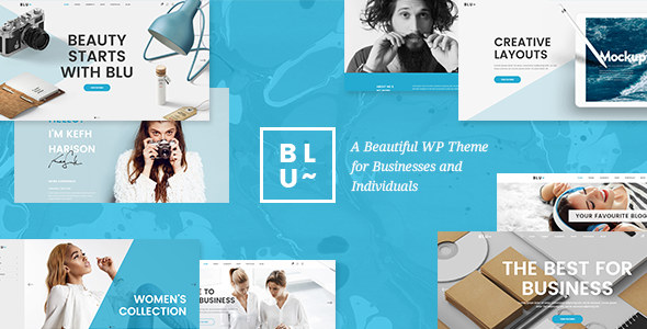 Blu – A Beautiful Business Theme for Agencies and Individuals