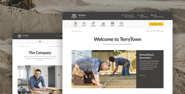 Terrytown - Construction & Renovation WordPress Theme