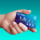 Hand with Public Transportation Card - GraphicRiver Item for Sale