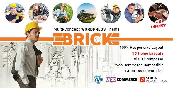 Brick – Multi Concept WordPress Theme