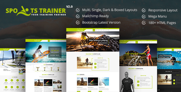 SportsTrainer - Health Coach & Personal Trainer HTML